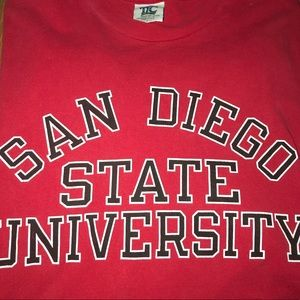 VTG San Diego State University T-Shirt Red Vintage
